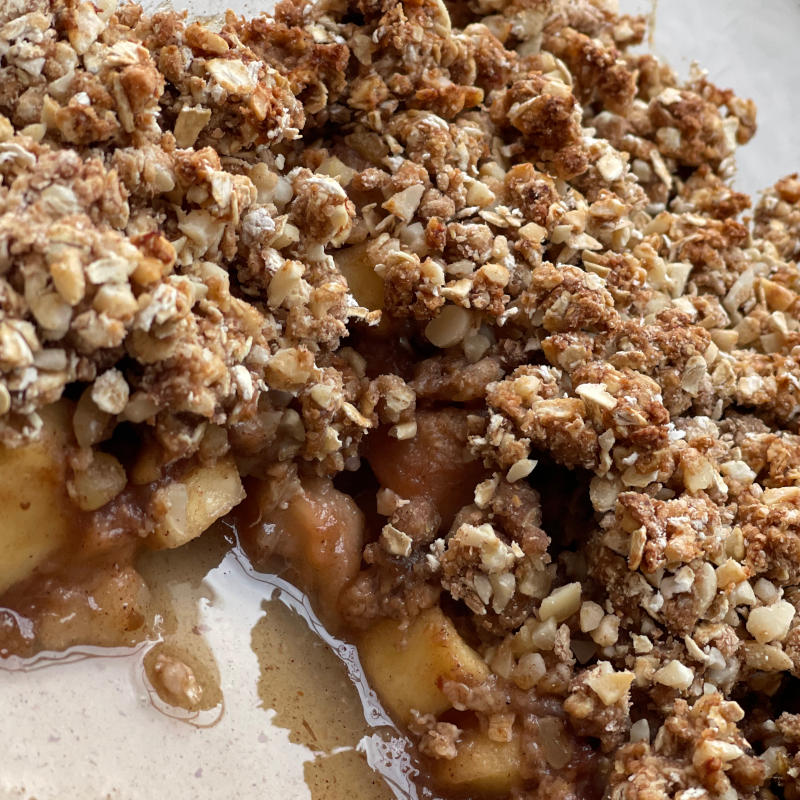 Salted Caramel And Apple Crumble