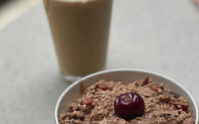 Plant-based Black Forest overnight oats recipe